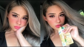 Drunk blush + Freckles Make Up Tutorial