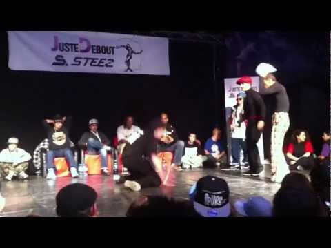 Spunkey and Luke Brown semifinal at Juste Debout Steez Poland 2012