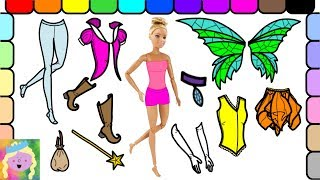Play Dress Up With Barbie | Barbie Is A Fairy Princess | Learn Names Of Colors And Clothes