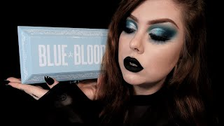 Full Face Makeup Tutorial Using Jeffree Star Cosmetics BLUE BLOOD palette!