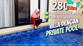 Villa Murah Ada Private Pool 2 Jam Dari Jakarta Villa Ubud Anyer Banten Type Deluxe 1 Kamar Tidur Youtube