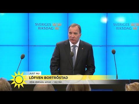 Stefan Löfven avgår: 'Jag står till talmannens förfogande' - Nyhetsmorgon (TV4)