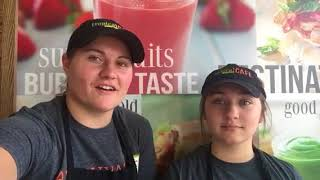 Lindsey & Makayla, Crew Members at Tropical Smoothie Saginaw, Michigan, love Jolt!