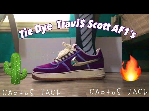 Travis Scott Air Force 1 Tie Dye Custom!
