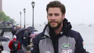 Liam Hemsworth and Alfie Allen join the Land Rover BAR team