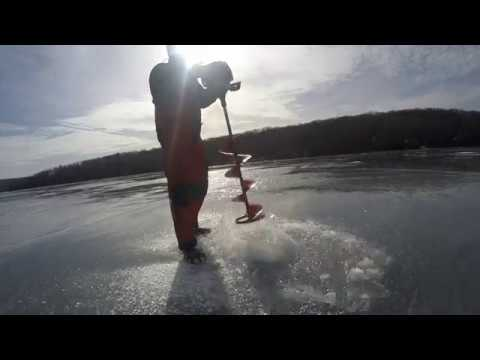 Ice Fishing Perch Mid Lake Structure - Wallenpaupack