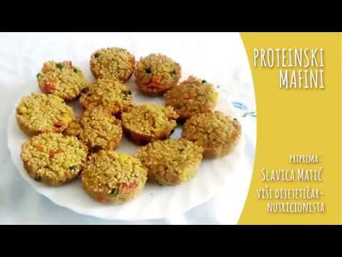 Proteinski mafini (bez brašna) - video recept
