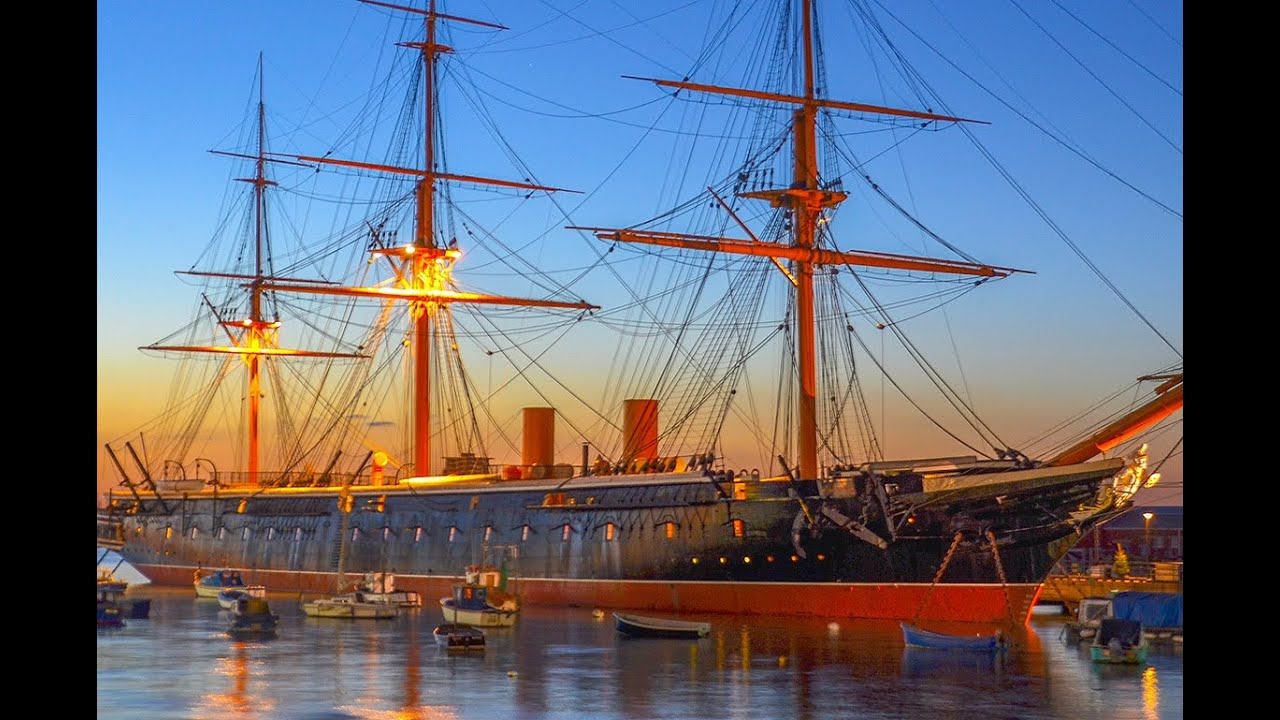 A Walk Around The HMS Warrior, 1860, Portsmouth, England