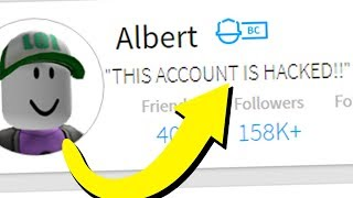 my roblox account got hacked...