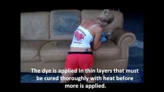 Dye a Leather Couch - Color Change Leather - St Louis Leather Repair