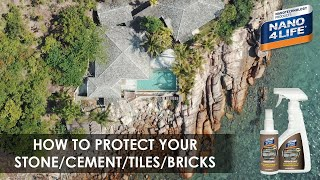 Protect your stone/cement/tiles | Nano4-Stone | by NANO4LIFE