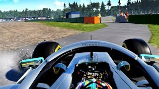F1 2019 CAREER MODE Part 75: MID-RACE DRAMA! WE NEVER GIVE UP THOUGH!