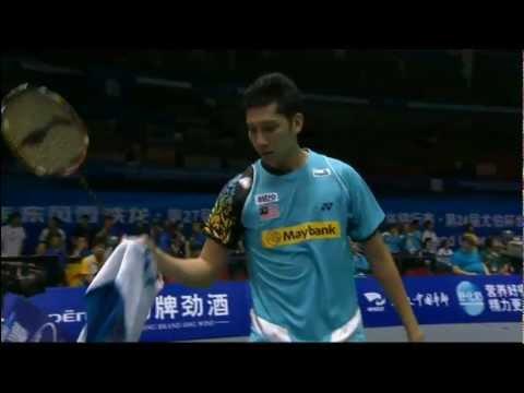 Qtr. Finals - China (Chen L.) vs Malaysia (M.H.Hashim) - Thomas Cup 2012