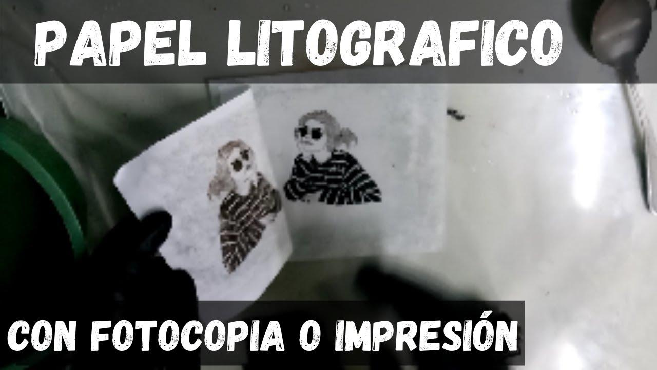 papel litográfico | fotocopia o impresión de toner | litografía