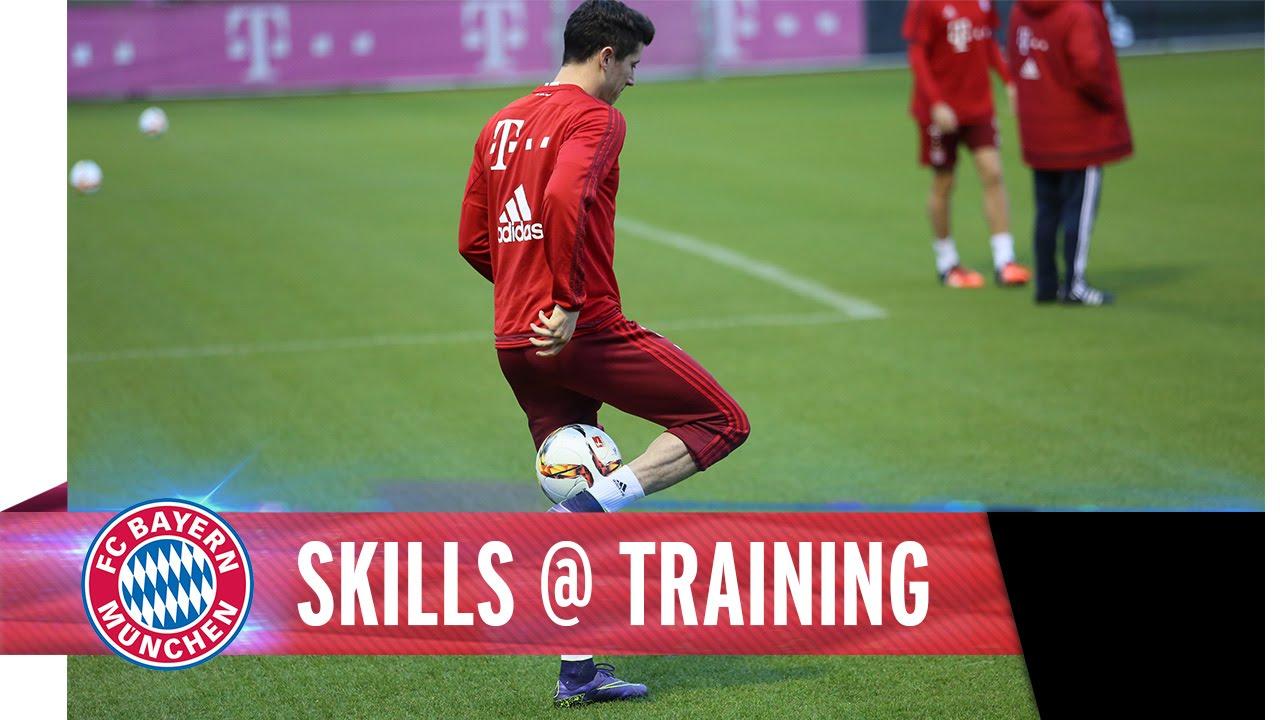 Robert Lewandowski shows off ridiculous skills in Bayern Munich training