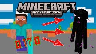 КАК ПРЕВРАТИТЬСЯ В ЭНДЕРМЕНА Minecraft PE 0.17.0 (1.0)