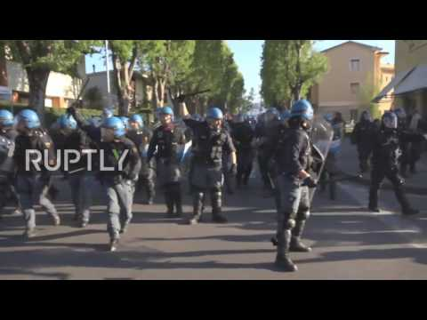Italy: Clashes erupt as protesters rail against G7 summit in Lucca
