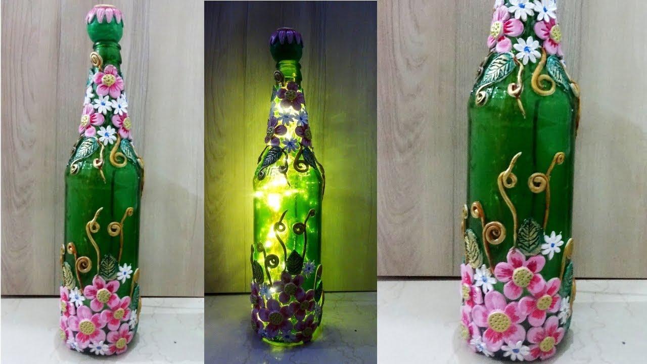 Gl Bottle Craft Ideas Lamp