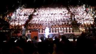 Coach Bobby Bowden Conducts Seminole Band Fight Song