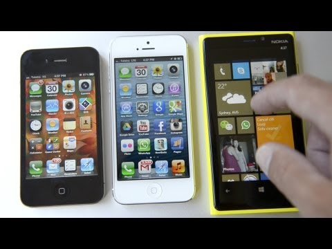 Camera Phone showdown - Nokia Lumia 920 vs iPhone 4 & 5