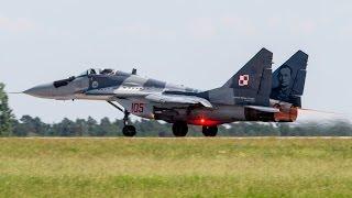 "ILA 2016 - Full amazing display cpt. Adrian ROJEK MiG-29A ""105"" - Berlin - 04.06.2016 r."