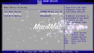 Bios Setup - CD, DVD, USB Boot