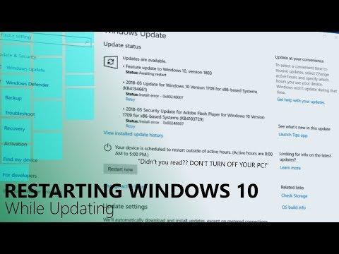 Restarting Windows While Updating