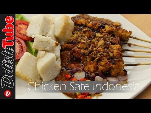 Chicken Satay With Peanut Sauce Recipe (Indonesian Food)