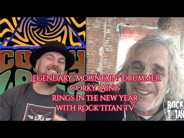 Corky Laing shares new drum kit during interview - Mountain drummer