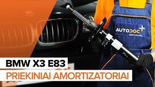 BMW X3 E83 techninė priežiūra - videopamokos