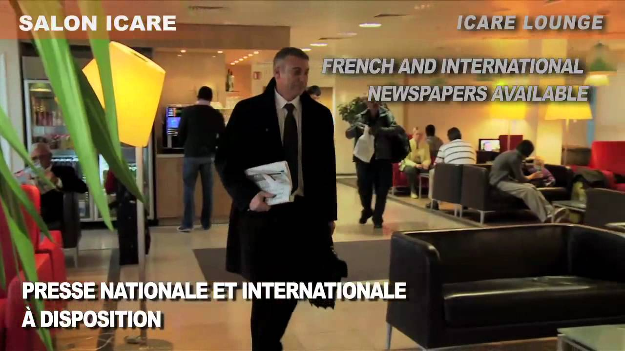 A roports de paris salon icare icare lounge youtube for Salon icare orly