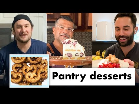 Pro Chefs Makes 9 Different Pantry Desserts | Test Kitchen Talks @ Home | Bon Appétit