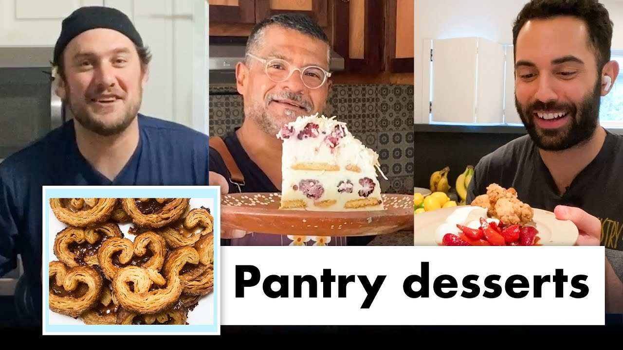 Pro Chefs Make 9 Different Pantry Desserts | Test Kitchen Talks @ Home | Bon Appétit