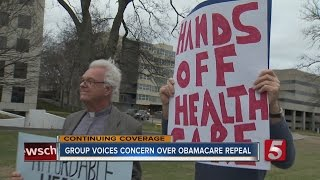 Group Protests Repealing ACA