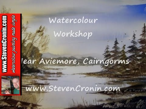 Near Aviemore, Cairngorms Part 2 of 3 Watercolor Landscape Painting Tutorial