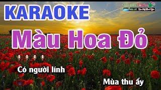 Màu Hoa Đỏ Karaoke | Beat Chất Lượng cao | Nhạc Sống Thanh Ngân