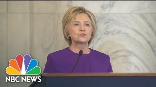 Hillary Clinton Makes First Remarks On Capitol Hill Since Election | NBC News