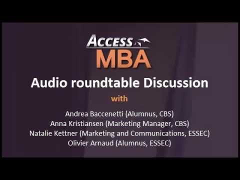 MBA and Entrepreneurship - Audio Roundtable with CBS and ESSEC