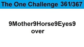 TOC 361: 9Mother9Horse9Eyes9 over.