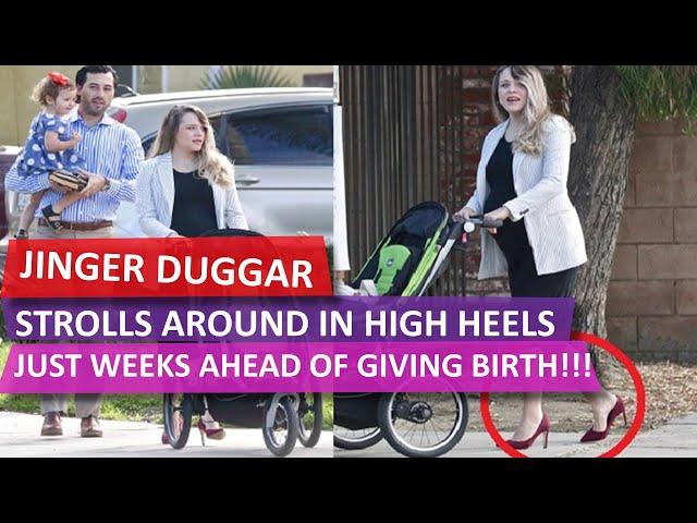 WATCH!!! \'Counting On\'\: Jinger Duggar Wearing HIGH HEELS Just Weeks Ahead of GIVING BIRTH!!!