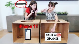 WIN iPhone 11 or TRAP - Whats In The Box Challenge | TwoSistersToyStyle