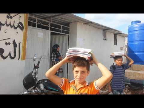 خروج مميز و منتظم لطلاب مدرسة الأقصى في مخيم أطمة للنازحين