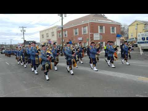 New Jersey State Police Blue & Gold Pipe Band @ 2018 Union NJ Saint Patrick's Parade