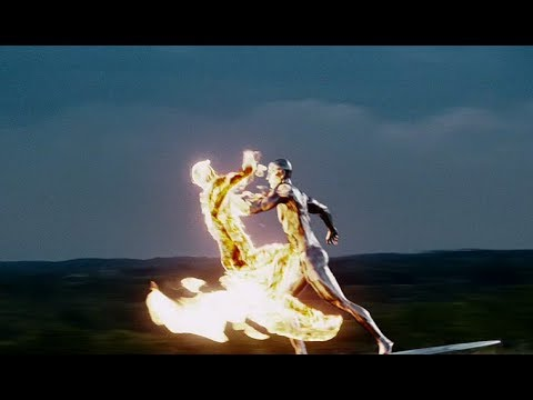 Download Silver Surfer Vs The Human Torch ¦ Fantastic Four  Rise Of The Silver Surfer 2007