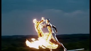Silver Surfer Vs The Human Torch ¦ Fantastic Four  Rise Of The Silver Surfer 2007
