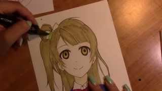 Drawing Minami Kotori from the anime Love Live! School Idol Project