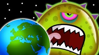 Суровый ЛИЗУН ГЛАЗАСТИК СЪЕДАЕТ ЗЕМЛЮ! ФИНАЛ Игра Tales from Space Mutant Blobs Attack