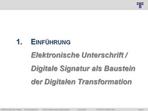 [DE] eIDAS: Elektronisches Unterschreiben | Dr. Ulrich Kampffmeyer | PROJECT CONSULT | KOFAX