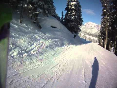 Snoqualmie - Summit Central - Terrain Park - Helmet Cam
