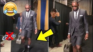 LeBron James & Cavaliers Arrive to Oracle Arena For Game 1 Of The NBA Finals IN FASHION 🤣💀